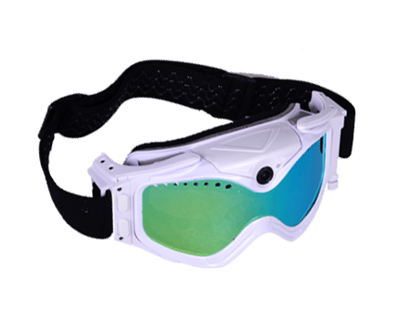 Video Recording Goggles - White - Cyclops Gear